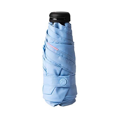 RUMBRELLA Mini Umbrella Blue, Teflon Purse Umbrella with 99% UV Protection