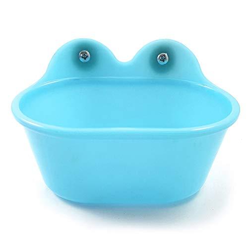 szlsl88 vogel bad kooi draagbare kleine gemakkelijk schoon douchecabine solide veilig huisdier accessoires bekken niet giftig voor papegaaien duurzaam (blauw), Blauw