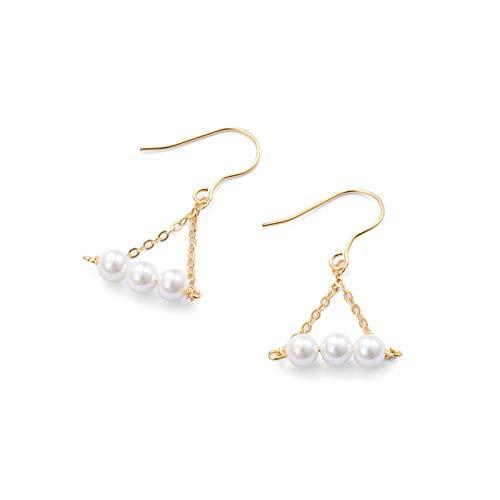 MURUI EH S925 pendientes de plata esterlina chapado K oro elementos Bearen gancho de la oreja moda temperamento luz lujo yc715