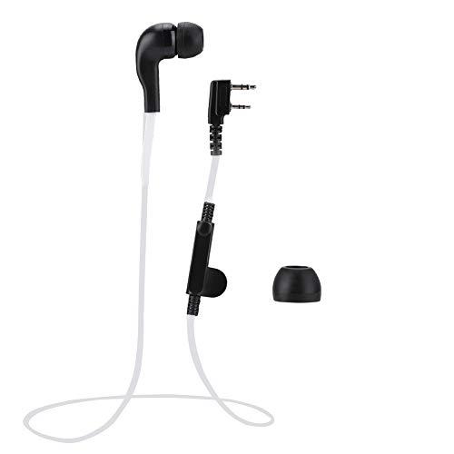 Xuzuyic Auriculares de Moda Estilo Noodle K, diseño ergonómico, Ddesign Estilo Noodle, Adecuado para Varios K-Head Walkie Talkie(Blanco)