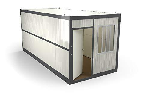 FALTFIX Faltcontainer Bürocontainer, 14,5qm Raumfläche (Nicht vergitterte Fenster) Materialcontainer