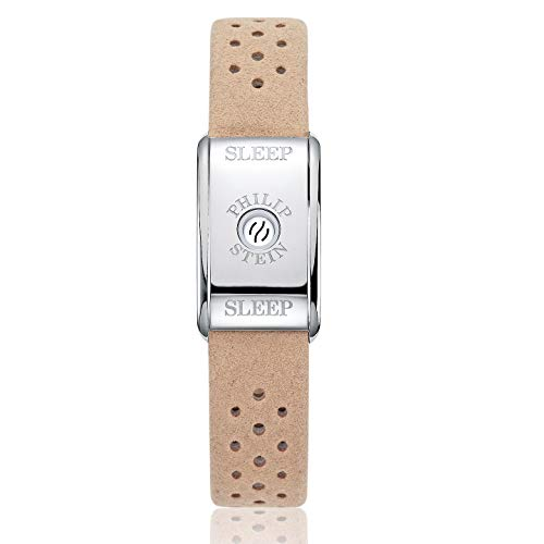 Sleep Bracelet Original by Philip Stein with Sleep Aid Natural Frequency Technology - No Batteries Needed, Unisex for Men and Women, Beige Strap