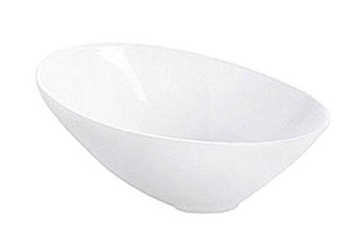 ASA Á Table asymmetrische Schale, Keramik, weiß glänzend, 22.5x17x11 cm