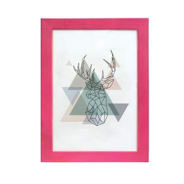 Artepoint Holz Bilderrahmen Natur von 9x13 bis 50x70 Querformat und Hochformat zum Aufhängen Rahmen KIEFERNHOLZ Farbe: Rosa - Format 50x70