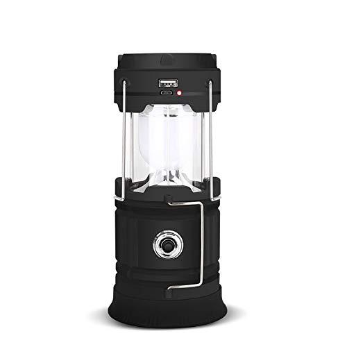 LED Camping Licht batteriebetriebene Taschenlampe Portable Two-In-One-Faltbare Laterne-Licht, Wandern Überleben Licht, Angeln, Lesen, Hurricane, Sturm, Blackout