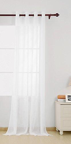 Deconovo, gordijnen, voile gordijnen, ogen, kleur wit, afmeting 175x140 cm