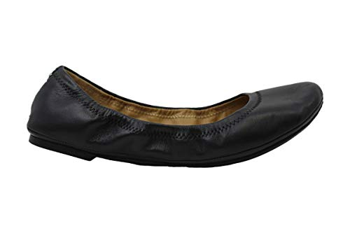 Lucky Brand Womens Erin Leather Closed Toe Ballet Flats, Black, Size 9.0