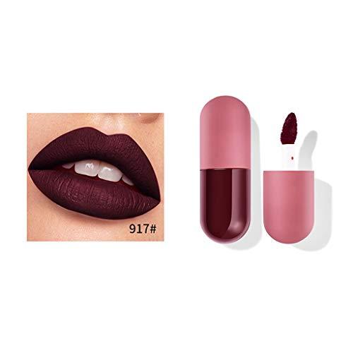 Kapian 18 Farben Mini Kapsel Lippenstift Lippenstift Lipgloss Matte Antihaft-Tasse Lippenglasur Liquid Lipstick Lasting Waterproof Lip Soft Lippenstift Lipgloss Wischfester lippenstift
