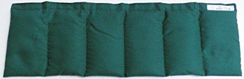 Hirsekissen 20x60 dunkelgrün Hirse Körnerkissen Wärmekissen