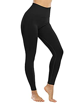NORMOV Seamless Butt Lifting Workout Gym Leggings for Women High Waist Tummy Control Compression Tights Yoga Pants
