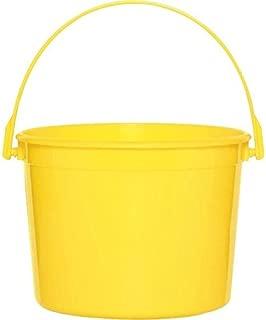 Plastic Bucket | Yellow Sunshine | Party Accessory