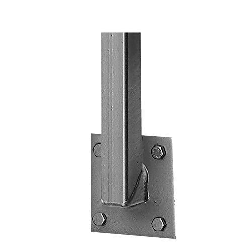 BAUER - Universalpfosten 30mm, mit seitl. Anschraubplatte | Zaunpfosten, Balkon Geländer