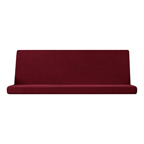 MagiDeal Funda de futón elástica sin Brazo, Funda de colchón, Funda Lavable, Funda de sofá a Prueba de Polvo, Funda de Muebles - Rojo