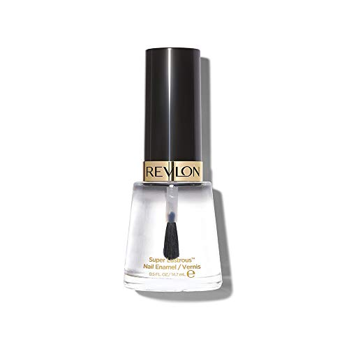 Revlon Nail Enamel, Chip Resistant Nail Polish, Glossy Shine Finish, 771 Clear, 0.5 oz