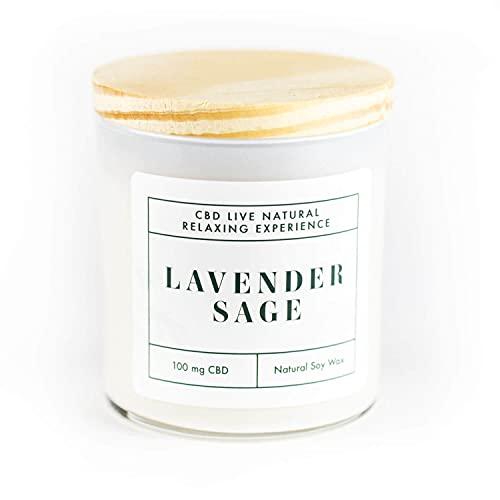 Hemp Infused Soy Candle, Lavender Sage, 11oz