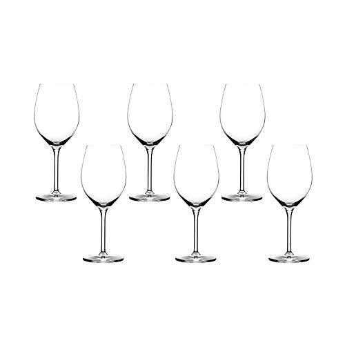 Summa - Copas de Vino. Set de 6 unidades. 350ml/35cl   Cristal, alta transparencia y borde fino   Uso en casa, restaurante y fiestas  