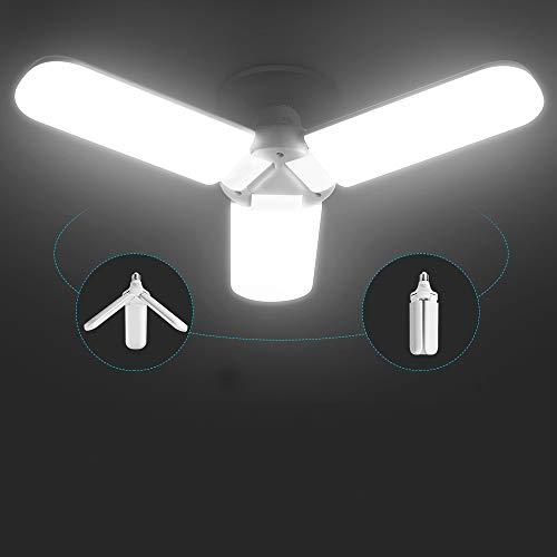 LED Garage Light,400 Watt Equivalent 6000K,Cool Daylight White LED Area Light,E26/E27 Medium Base,for Outdoor Factory Warehouse Barn Backyard and More,Super Bright