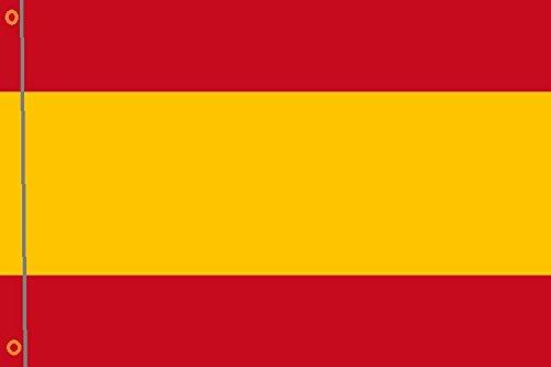 DURABOL Bandera de España Sin Escudo flag 90x150cm SATIN 2 anillas metálicas fijadas en el dobladillo