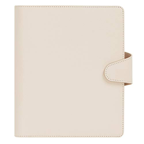 """kikki.K Signature Edition Designer Collection - A5 Leather Personal Planner Almond, Made from Genuine Leather, Features Signature kikki.K. Metal Hardware and Lining, Measures 1.96""""L x 7.87""""W x 9.45""""H"""