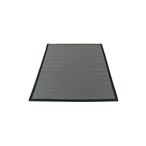 Solys Tapis de protection pour barbecue Noir Rectangulaire 180 x 120 cm PVC Solys