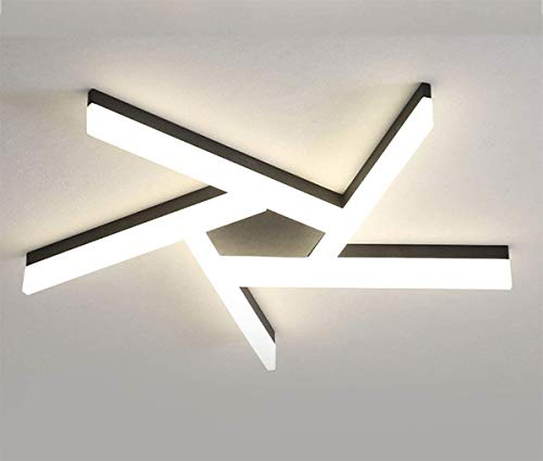 ZHANGL Lámpara de techo regulable LED interior moderna y simple con control remoto Diseño geométrico Lámpara de techo Lámpara de techo Lámpara de techo L76CM Dormitorio, Comedor, Oficina 54W, [Clase d