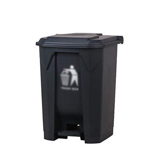 AOYANQI-Cubos de basura La basura doméstica contenedores de reciclaje, de plástico con tapa Clasificación bote de basura de la calle del hotel Jardín Comunidad de Negocios bote de basura Bajo techo, e