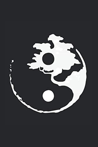 Notizbuch: Yin Yang Kunst Buddhismus Bonsai Yoga Meditation Notizbuch DIN A5 120 Seiten für Notizen Zeichnungen Formeln | Organizer Schreibheft Planer Tagebuch