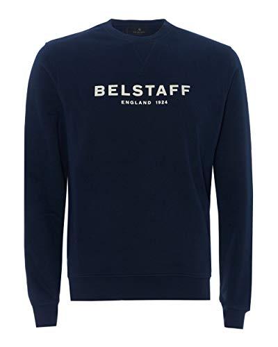 Belstaff Herren-Sweatshirt mit Logo von 1924. Gr. M, navy