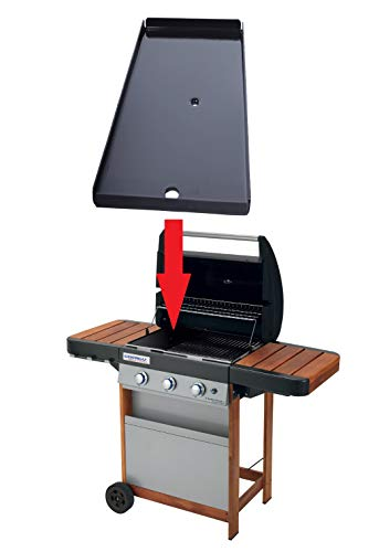 ALTIGASI Original-Ersatzteil – Grillplatte aus emailliertem Stahl für Campingaz 3 Series Woody L – Größe 22,5 x 45 cm