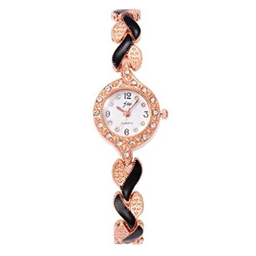 ibasenice 1 Pieza Reloj de Cuarzo de Moda para Mujer Reloj de Cuarzo ( Dorado )
