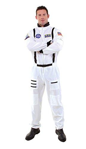 UNDERWRAPS teen boys Mens Astronaut adult sized costumes, White, US