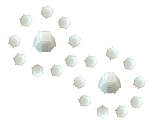 Kartuschenverschlusskappe 20 STÜCK Verschlusskappe für Kartuschen, Kartuschenverschluss mit Grobgewinde Schraubkappe Silikon Kartusche wiederverwenden und sicher verschließen Kartusche zumachen