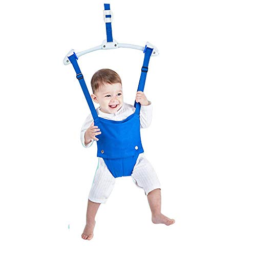 Xiangtat Baby Door Jumpers Exerciser and Bouncers Swing Exerciser Set with Door Clamp Adjustable Strap for Toddler Infant 6-24 Months