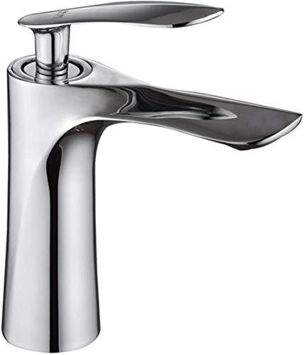 Grifo de hoja de arce incorporado de un solo orificio Grifo de lavabo de control doble caliente y frío Grifo de lavabo de baño con núcleo de cobre ponderado