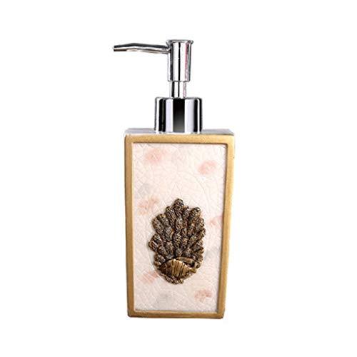 LOMJK Dispensador de jabón de regalo, dispensador de jabón rellenable, 280 ml, 266,5 ml, adecuado para champú, acondicionador y aceite de masaje, soporte y jabón de ducha (color: E)
