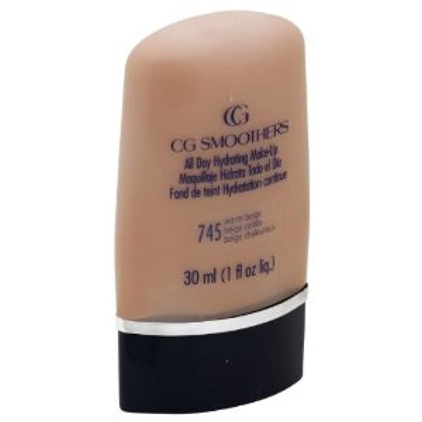 インフルエンザ内向き不注意COVERGIRL AQUA CG SMOOTHERS MAKEUP #745 WARM BEIGE