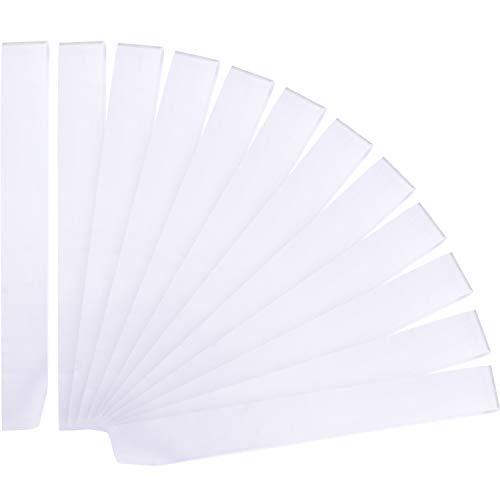 12 Pieces Blank Satin Sashes Plain Sashes Party Accessory for Wedding Party DIY Supplies (White)