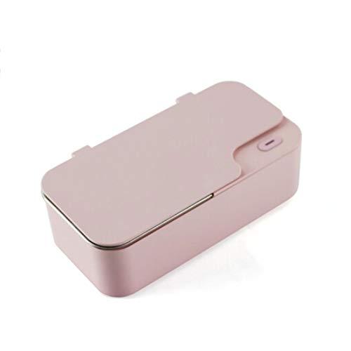 middle Schmuckreiniger, Ultraschallreiniger Ultra Sonic Bath 48000Hz / 18W / 450ml, 5 Minuten automatisches Timing, geeignet zum Reinigen von Gläsern, Schmuck, Uhren, Stiften, Zahnspangen, Schnullern