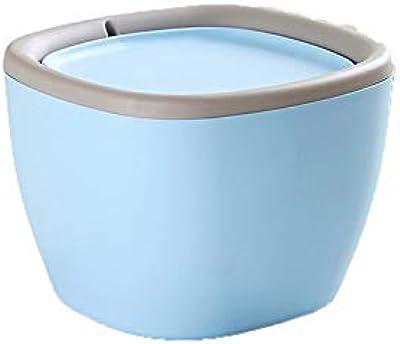 FEIHAIYANYljt ゴミ箱 さまざまなデスクトップに配置できるPP素材製の家庭用家庭用ゴミ箱 (Color : Blue)