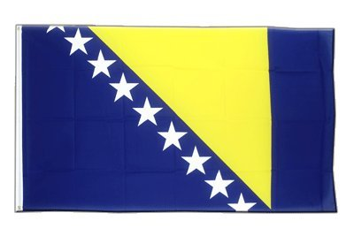 Bosnien Herzegowina Flagge, bosnische Fahne 90 x 150 cm, MaxFlags®