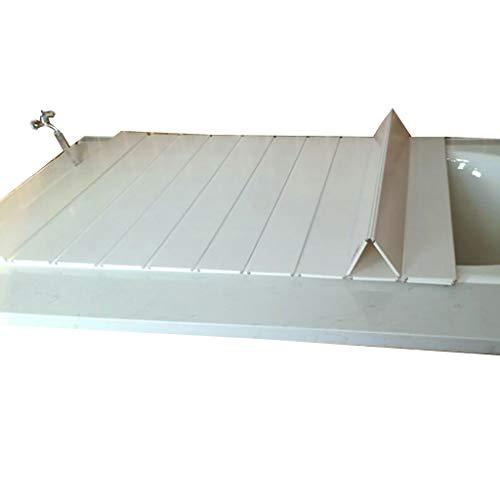 ZWJLIZI Badewannenbretter Faltender Badewannendeckel Isolierung staubdicht Aufbewahrung PVC weiß 75cm breit 0,6 cm Badewannenträger (größe : 165 * 75 * 0.6cm)