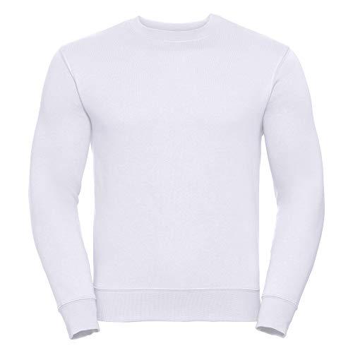 Russell Herren Sweatshirt, schmaler Schnitt (Medium) (Weiß)