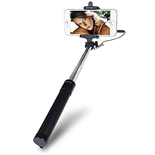 Electraline 500337 Selfie Stick Portatile - Bastone Selfie autoritratto Senza bluethoot con Cavetto per Smartphone Android e iOS