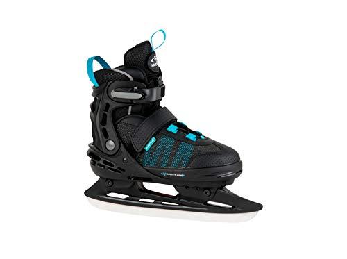 HUDORA Kinder & Jugendliche Allround Schlittschuh Comfort, Black, Gr. 35-40-Eislaufschuhe Ice Skates, schwarz, 35-40