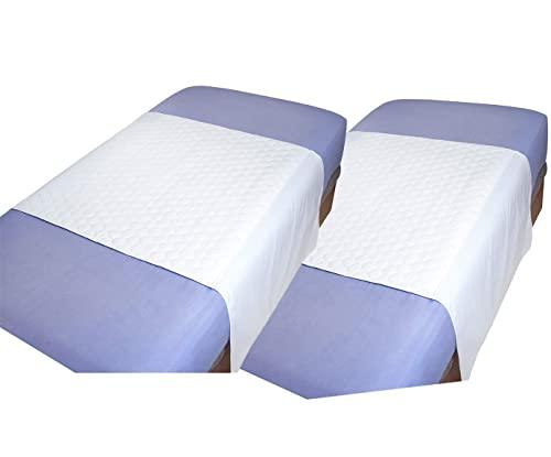 MIRTUX Pack de 2 empapadores Protector de Cama Lavable, Impermeable y Muy Absorbente con 4 Capas. Medidas 85 x 90 cm y alas a Ambos Lados de 55cm. Empapador Fabricado Super Resistentes.