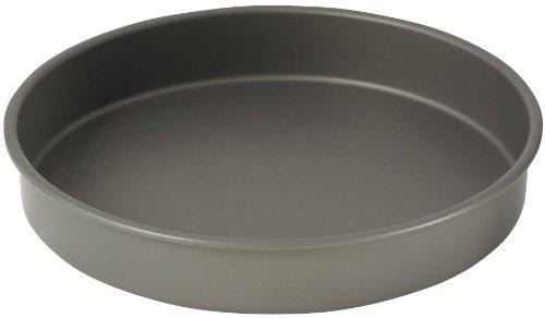 WINCO Round Cake Pan, 12-Inch, Hard Anodized Aluminum,Black