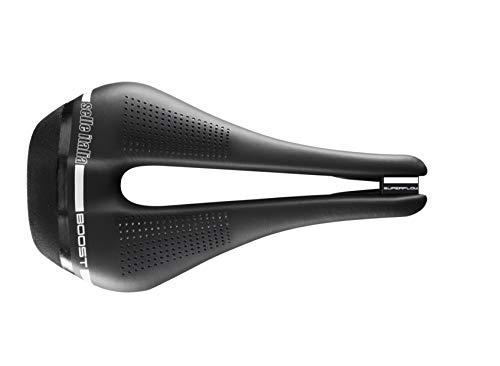 Selle Italia - Selle Vélo de Route Novus Boost Superflow, Cadre TI 316 Tube Ø7, Selle Courte Road Perfomance Fibra-Tek Léger, Confort