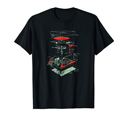 Vintage Turntable - DJ Retro Vinyl Plattenspieler T-Shirt