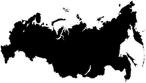 Muurstickers muurschilderingen Verwijderbare Rusland Kaart Woonkamer Zelfklevend Ontwerp Huis 78X44cm