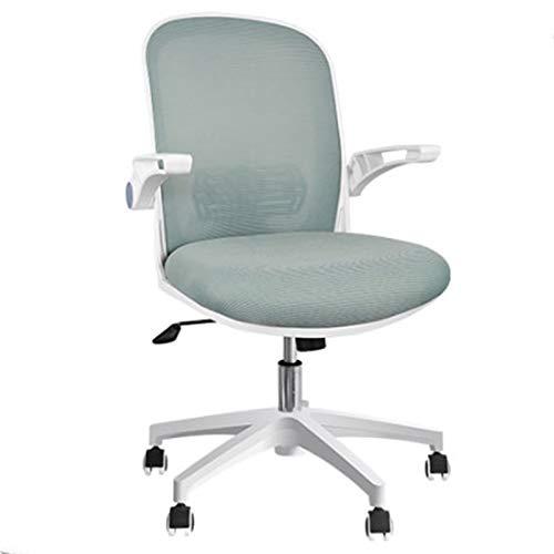 DJDLLZY Sedie da ufficio ergonomiche, Sedie per ufficio casa, sedie per computer a rete, con braccioli di supporto in vita, regolabile a metà schiena